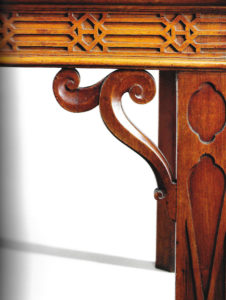 Detail of Dumfries House serving table, attributed to Alexander Peter