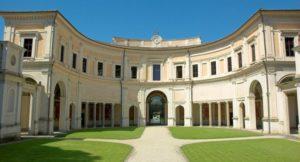 Villa Giulia interior colonnade- serenity in intercolumniation
